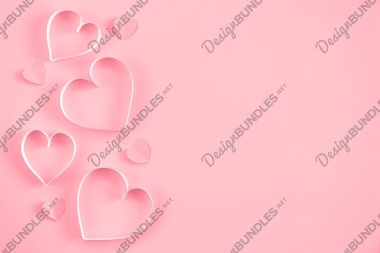 Heart on pastel pink background. Valentine's Day. example image 1