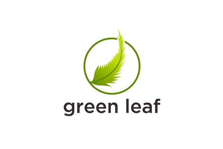 Abstract green leaf logo icon vector design.