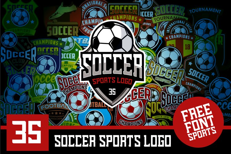 Set 35 Football Soccer Logo Emblem Template