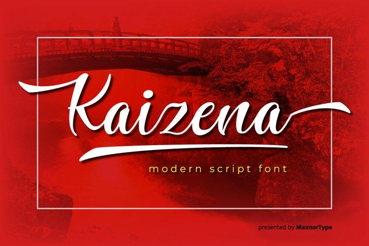 Kaizena - Modern Script Font example image 1