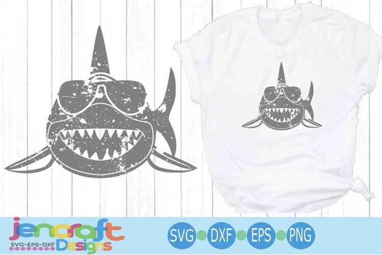 Distressed Shark Svg, Grunge svg, eps, dxf, png
