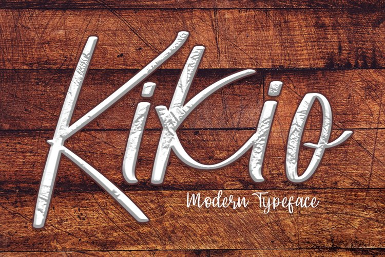 Kikio - A Modern Typeface Font example image 1