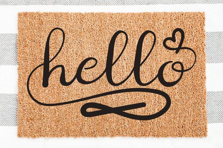 Hello SVG Doormat, Doormat Signs SVG, Door Mat Quotes SVG