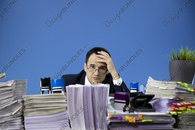 exhausted tired overworked businessman example image 1