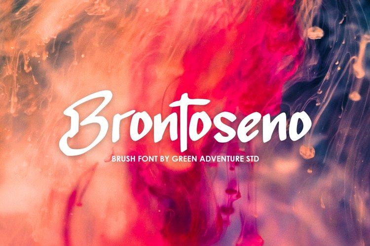 Brontoseno - A Brush Font example image 1