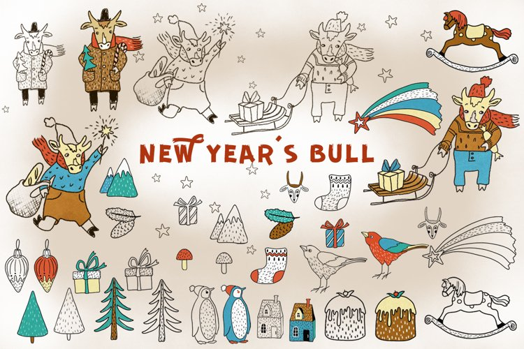 New Year's Bull example image 1