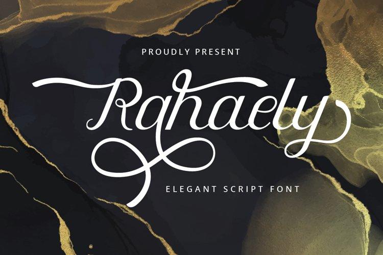 Rahaely - Elegant Script Font