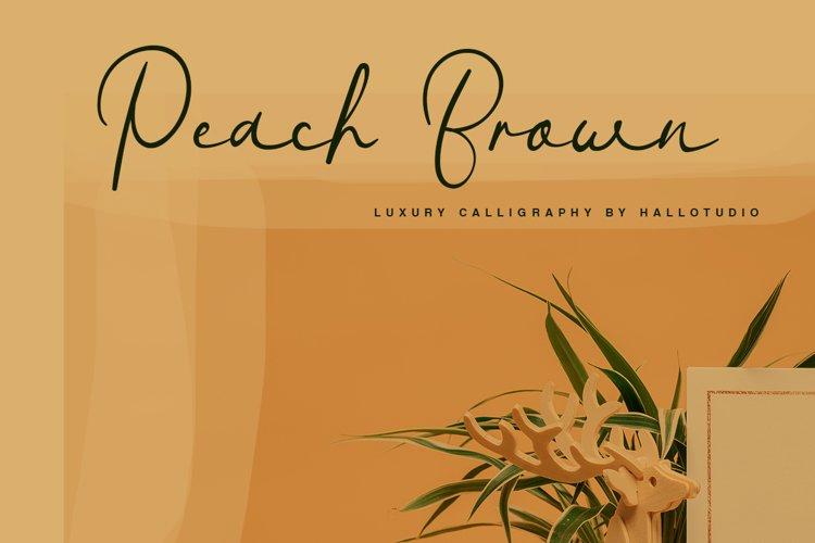Peach Brown