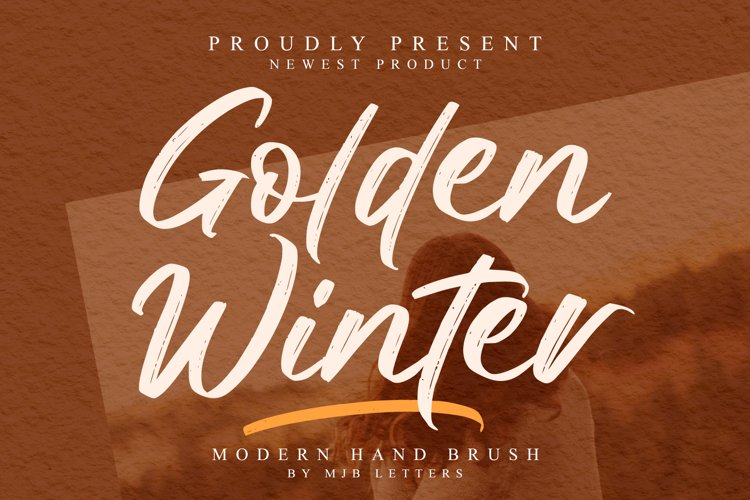 Golden Winter | A Natural Hand Brush Font example image 1