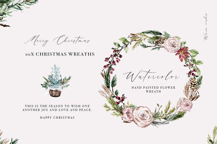 Christmas Wreath Clipart Christmas Watercolor Border PNG