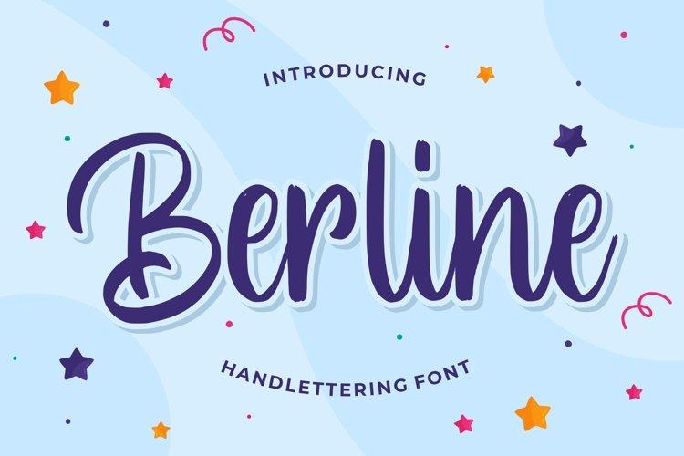 Berline - Handlettering Font example image 1