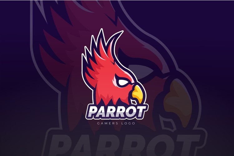 Parrot Mascot And Esport Logo example image 1