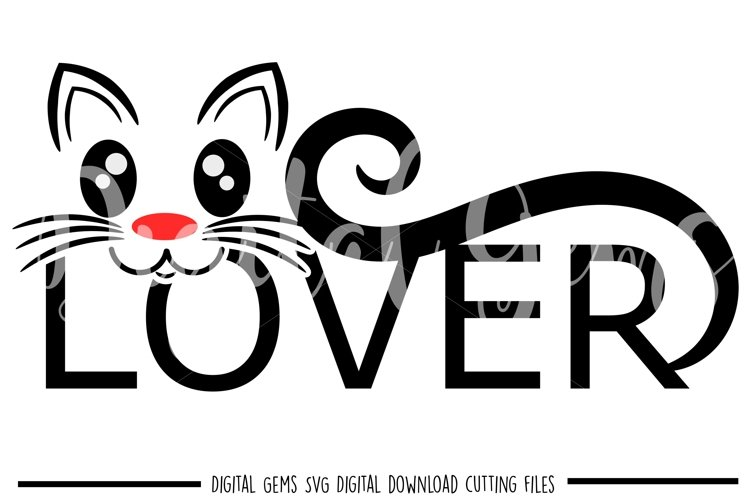 Cat SVG / PNG / EPS / DXF files example image 1
