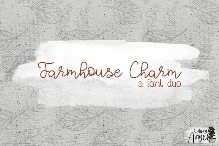 Farmhouse Charm - a smooth handwritten script font duo example image 1