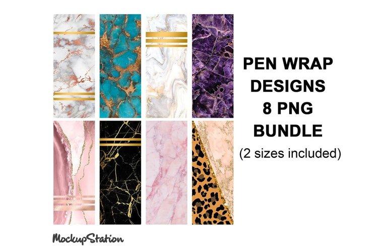 Marble Pen Wrap Sublimation Design Bundle