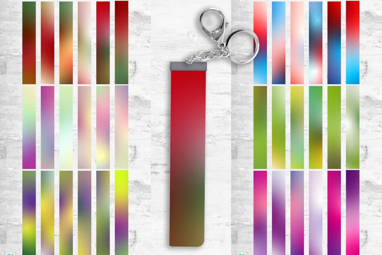 Holiday Ombre Key Fob Wristlet Designs Sublimation
