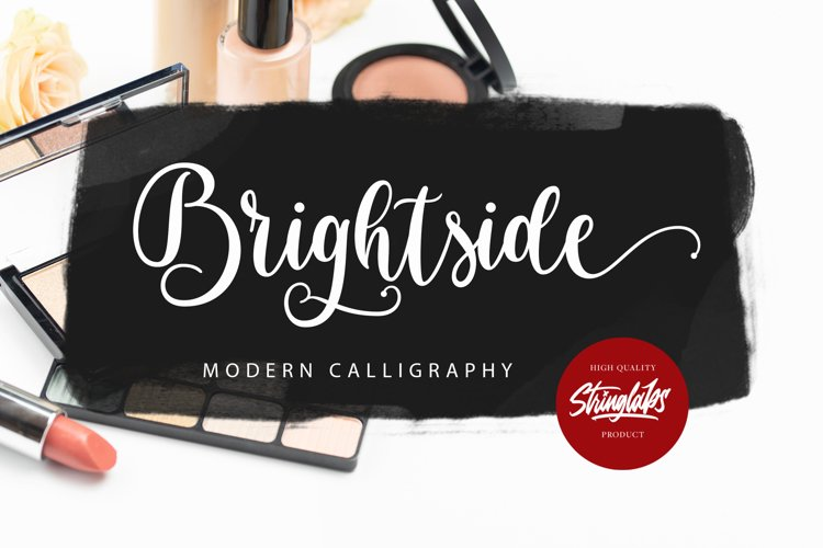 Brightside - Modern Calligraphy Font example image 1