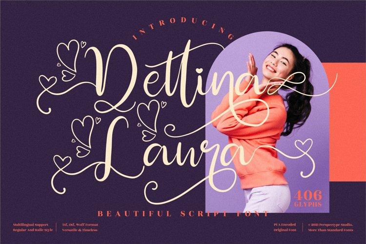 Dettina Laura - Beautiful Script Font example image 1