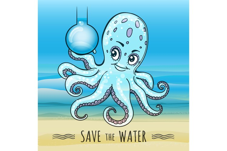 Save the Water Illustration example image 1