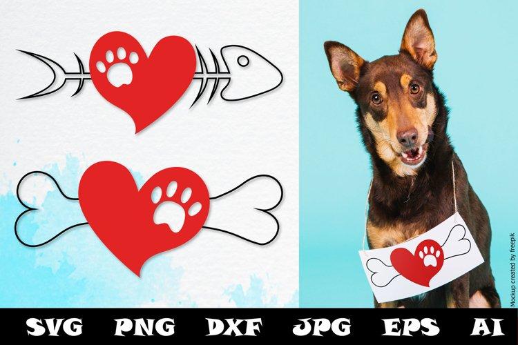Download Cat Dog Valentines Svg Cut Files Valentine Cat Dog Svg Pet 1148823 Cut Files Design Bundles