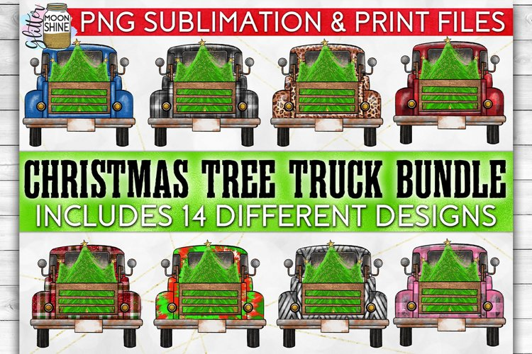 Christmas Tree Truck Bundle of 14 Sublimation PNG