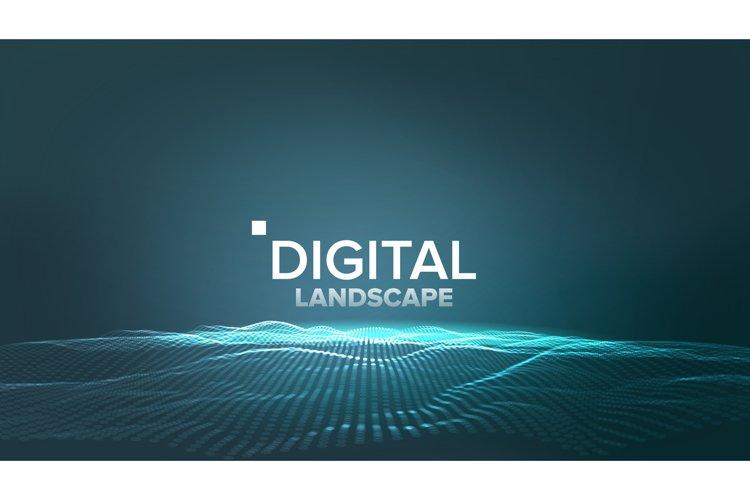 Technology Landscape Vector. Tech Surface. Dot Land. example image 1