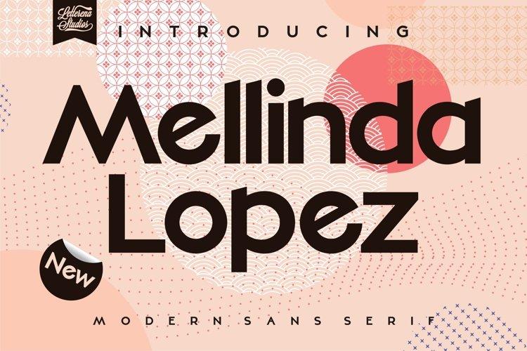 Mellinda Lopez - Modern Sans Serif Font example image 1