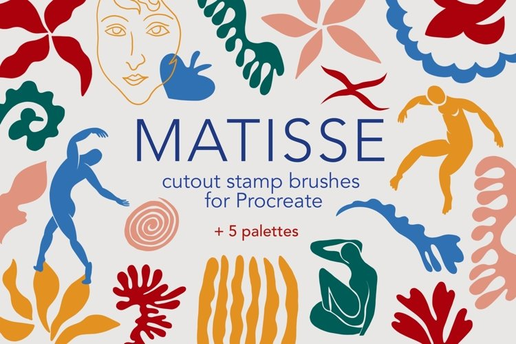 Matisse cutout procreate stamp brushes example image 1