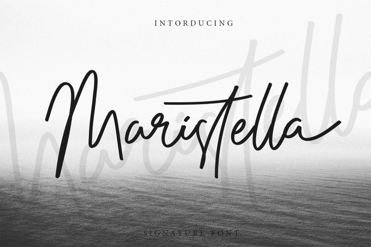 Maristella Signature Font example image 1