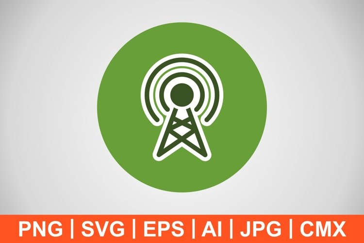 Vector Broadcast Icon example image 1