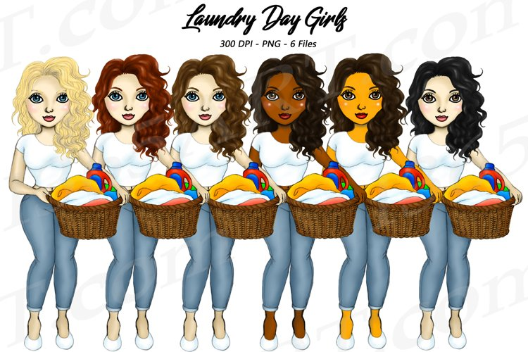 Laundry Day Girls Chores Clipart, Fashion Planner PNG