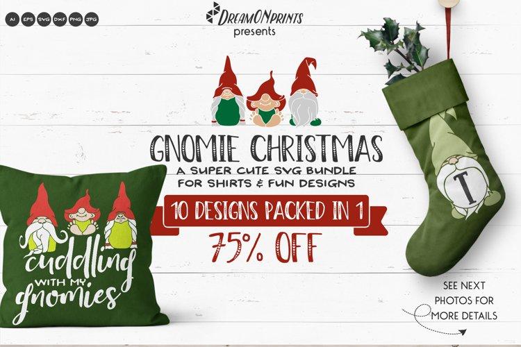 Christmas Gnomes SVG Bundle   Funny Christmas SVG Bundle example image 1