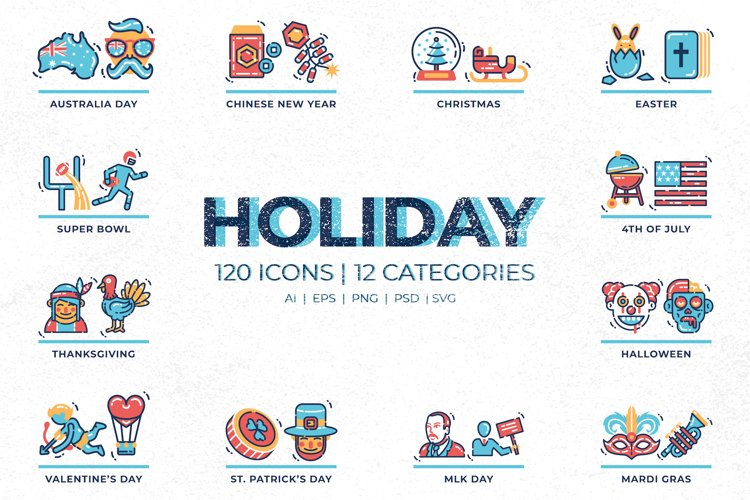 120 Holiday Icons