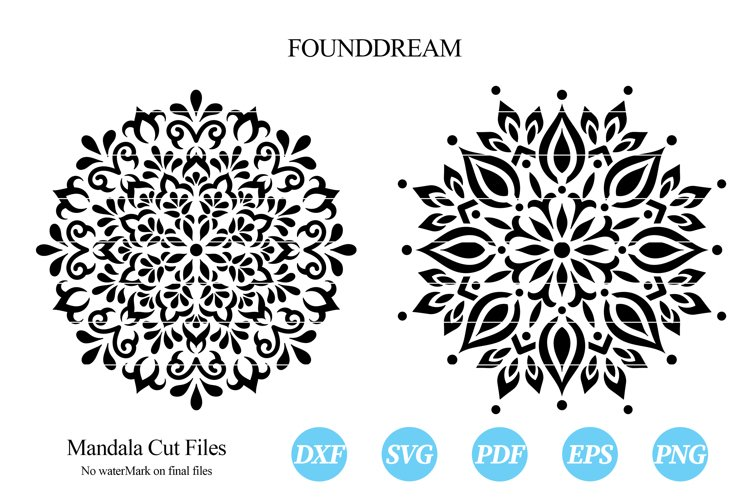 Mandalas svg cut file