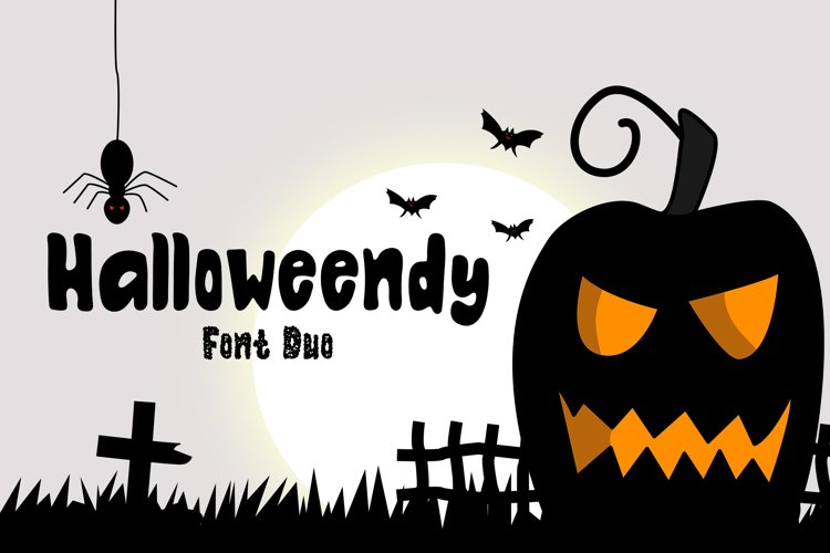 Halloweendy   A Playful Font Duo example image 1