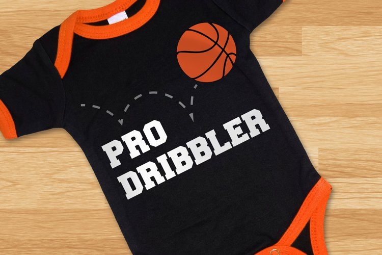 Basketball Pro Dribbler SVG File Cutting Template example image 1