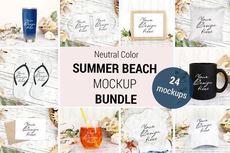 Neutral color Summer Mockup Bundle, Beach Mockup bundle 1197