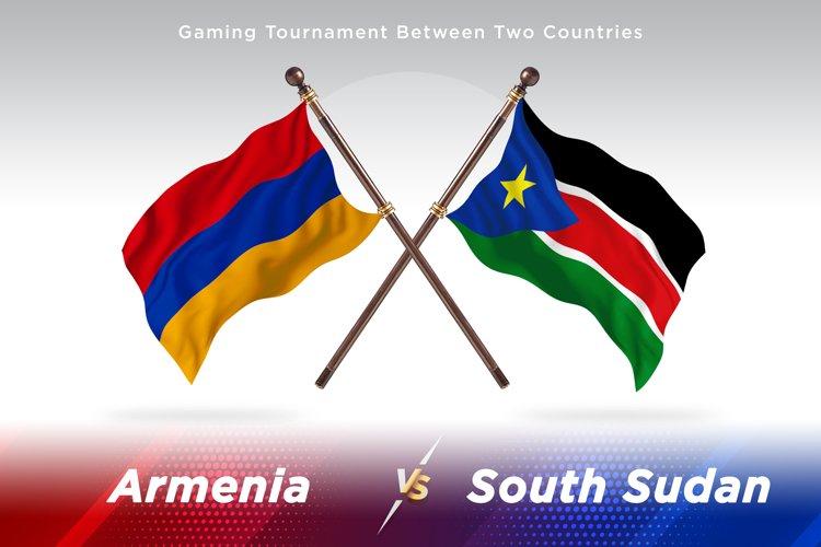 Armenia versus South Sudan Two Flags example image 1