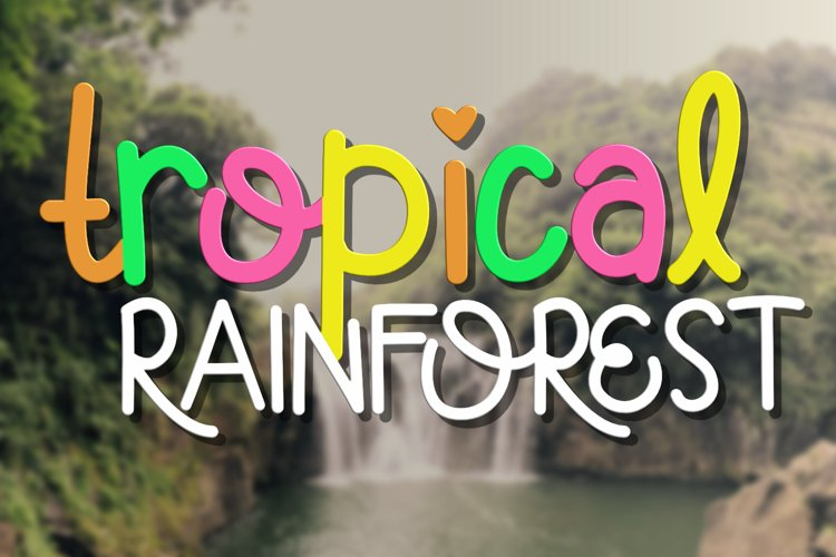 Tropical Rainforest Font example image 1