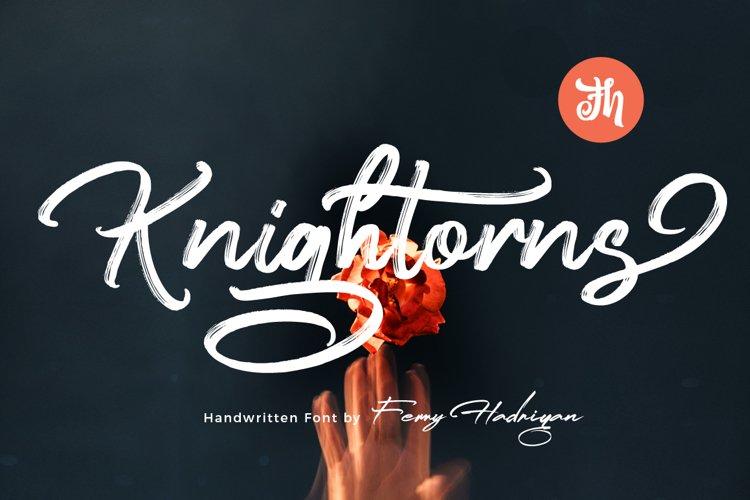 Knightorns - Handwritten Font example image 1