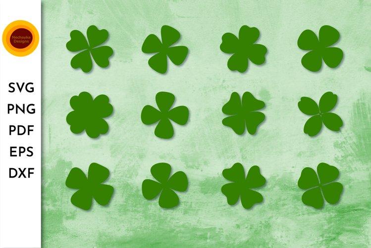 Quatrefoil SVG. Shamrock SVG bundle. Four leaf clover SVG. Q example image 1