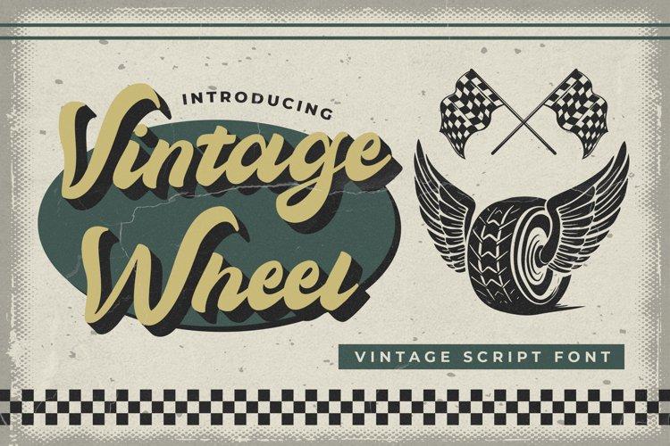 Vintage Wheel - Vintage Script Font example image 1