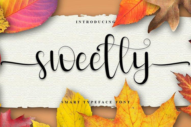Sweetly - Beauty Calligraphy Font example image 1