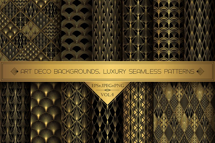 Art Deco Wallpapers Pack   PNG EPS JPG   Vol.4 example image 1