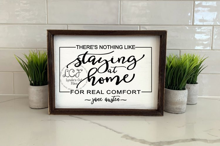 Theres nothing like staying home//svg/eps/dxf file