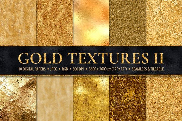 Gold Digital Papers - 10 Seamless Metallic Textures