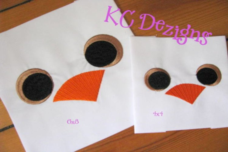 Duck Eyes and Nose Embroidery
