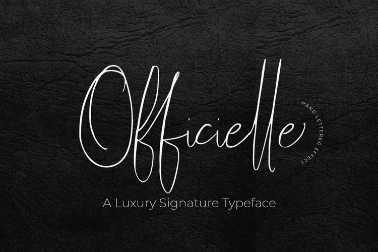 Officielle | Lovely Signature Font example image 1