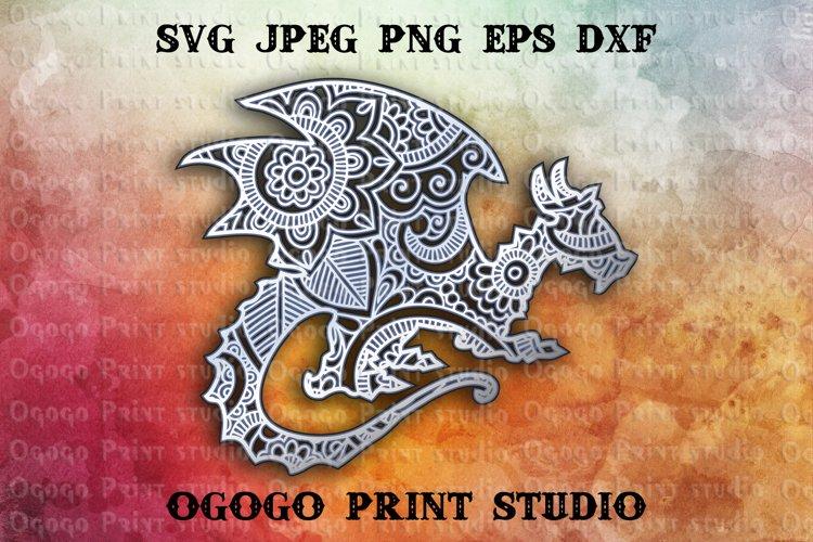 Download 3D Layered Dragon Mandala Svg, Zentangle SVG, Pet lover ...
