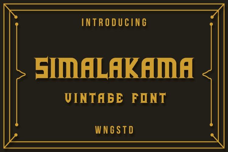 Simalakama Vintage Font example image 1